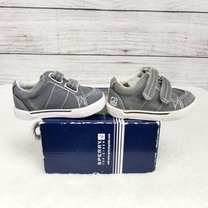 🍕Sperry Topsider Baby Boy 1 M Boat Shoes Canvas